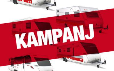 Kampanj på nya husvagnar från KABE