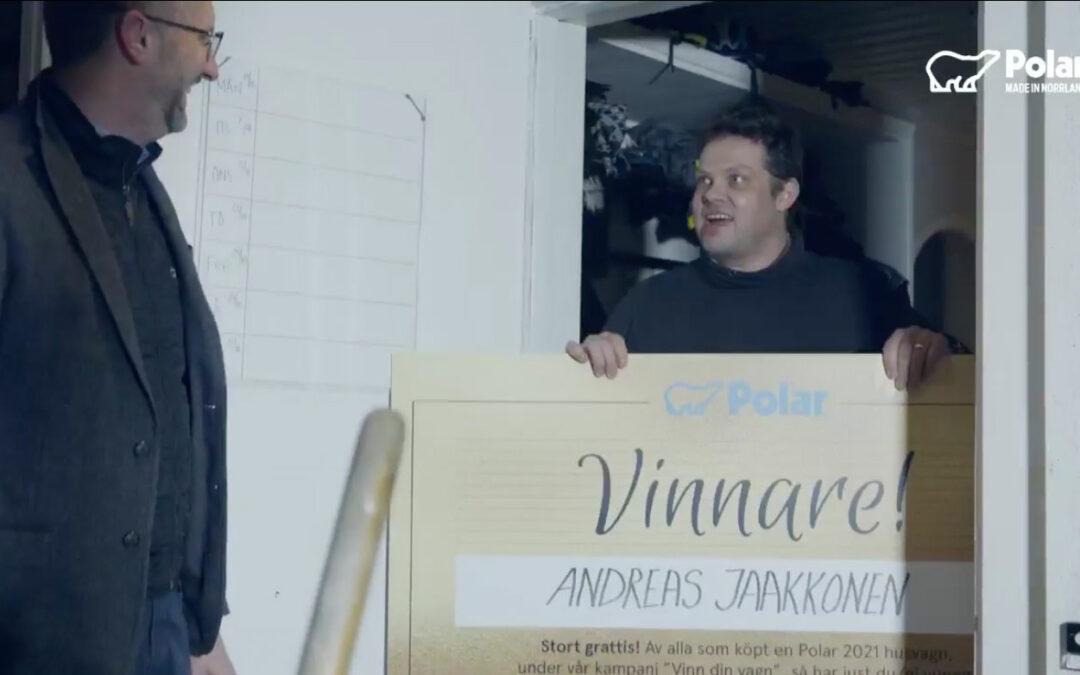 Vår kund blev vinnaren av Polarvagnen